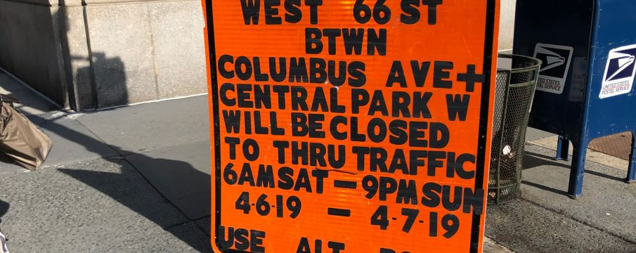 West 66th Street Closure 4/6-4/7