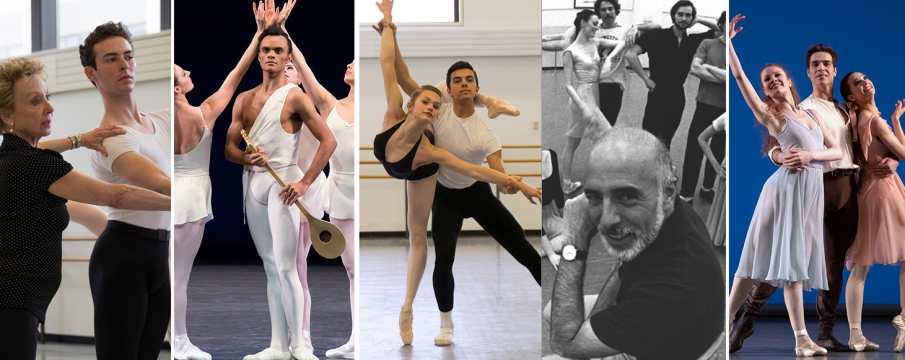 a collage of ballet performances and individuals practicing