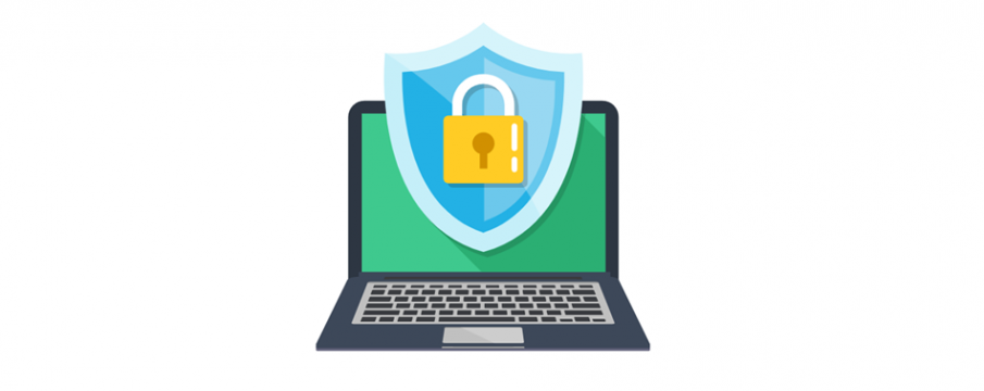 digital stock image clip art of a laptop with padlock over it