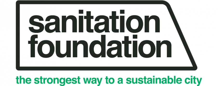 sanitation foundation logo of a black truck outline