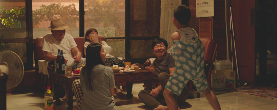 "screencap of a family from ""Moving On"""