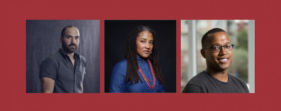 headshots of Marco Ramirez, Lynn Nottage, Branden Jacobs-Jenkins