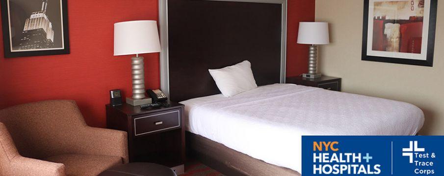 interior of a hotel room