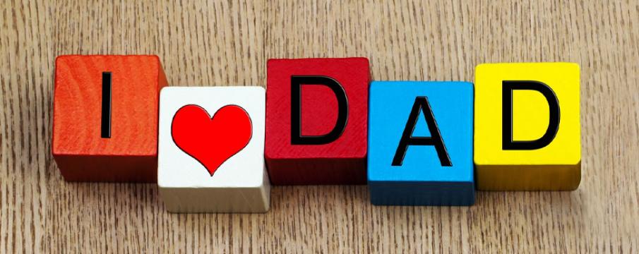 blocks that say i heart dad