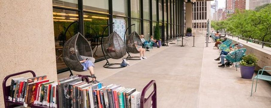 view of the outdoor reading room