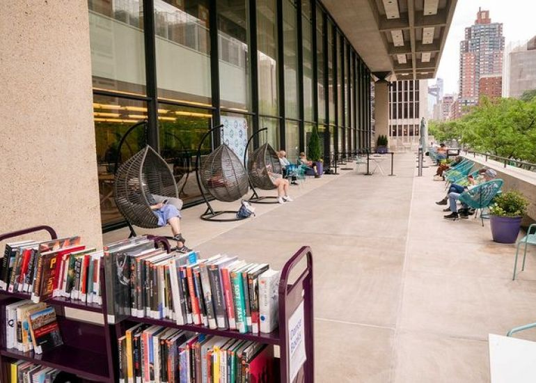 Visit the Library for the Performing Art's Outdoor Reading Room