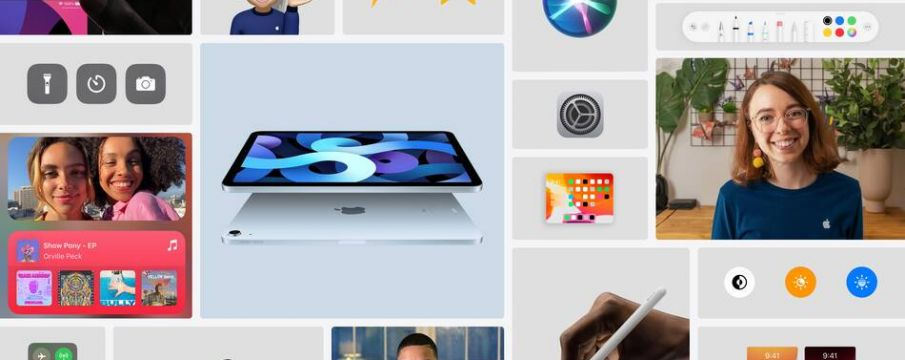 collage of apple products and creative from apple