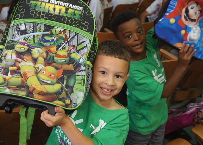 West Side YMCA's Build A Backpack Program