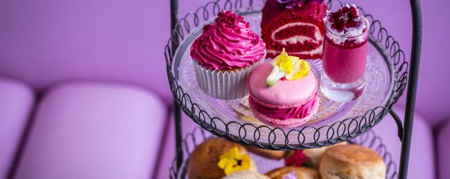 Pink Afternoon Tea at Bluebird London
